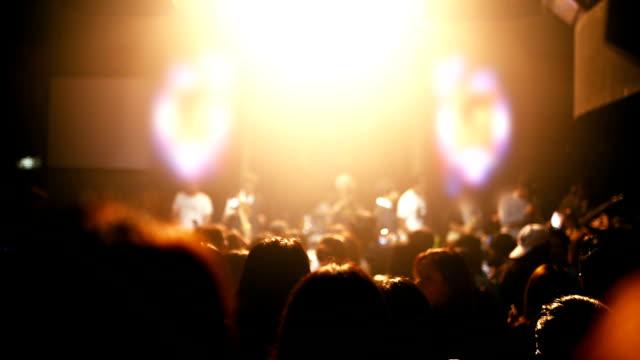 menschenmenge, party, tanzen bei einem konzert - aufführung stock-videos und b-roll-filmmaterial