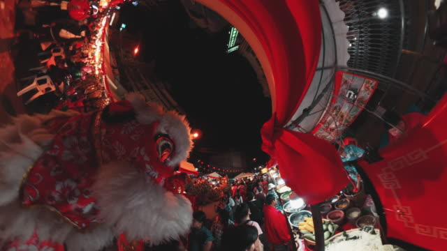 crowd people in chinese new year festival - 360 stock videos & royalty-free footage