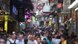 Crowd people in Macau