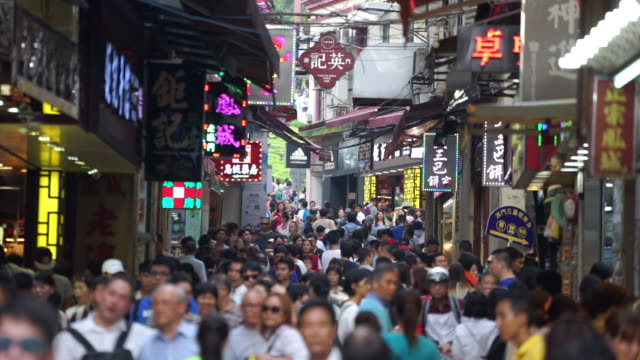crowd people in macau - macao stock videos & royalty-free footage