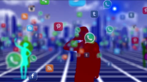 crowd people using smartphone social media - medium group of objects stock videos & royalty-free footage