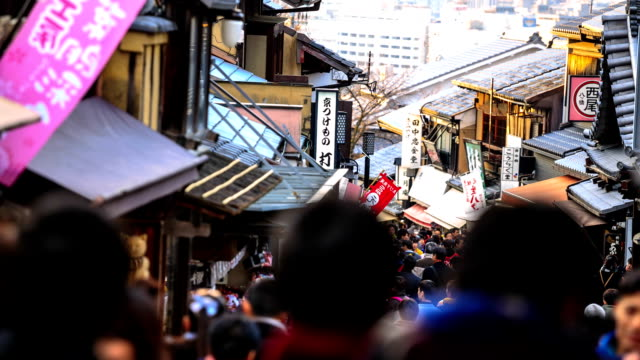 Crowd people walking at The old Tokyo market