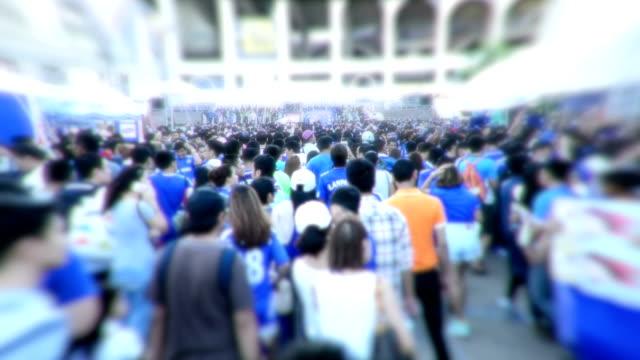 Crowd people walking