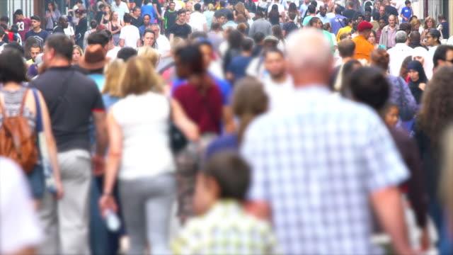 群衆は、本当のスローモーション - 大人数点の映像素材/bロール