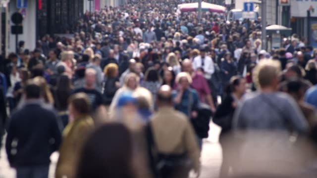 crowd timelapse - sidewalk stock videos & royalty-free footage
