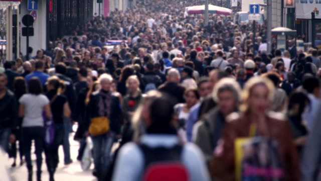 crowd - city life stock videos & royalty-free footage