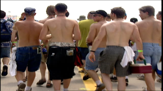 of crowd walking at woodstock '99 - 1999 stock videos & royalty-free footage