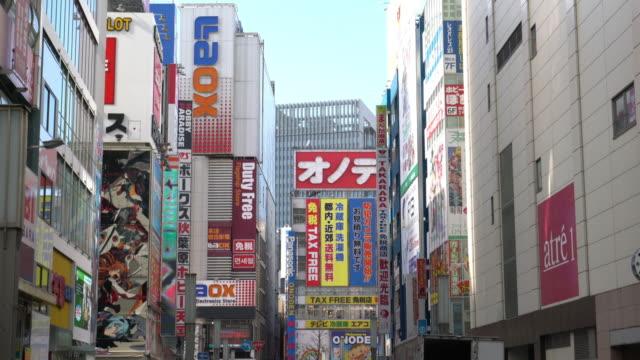 東京都、秋葉原を歩いて群衆