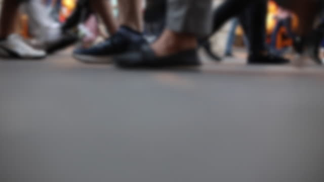 crowd walking, odd angle istanbul - byakkaya stock videos and b-roll footage