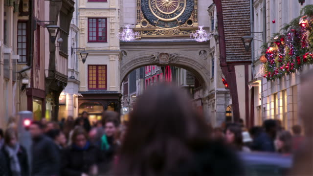 crowd walking time lapse - france stock videos & royalty-free footage