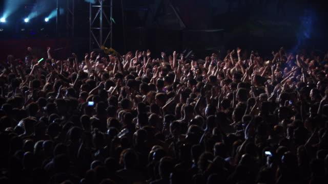 Crowd watching live music