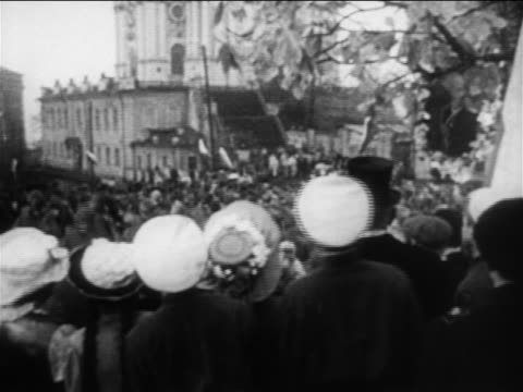 view crowd watching russian soldiers rise up outdoors / russojapanese war / doc - 1904 stock videos & royalty-free footage