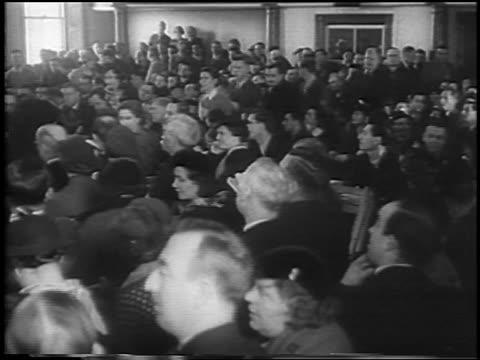 b/w 1935 crowd watching testimony in lindbergh kidnapping trial / flemington nj / newsreel - 1935 stock videos & royalty-free footage