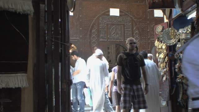 ms crowded alley with moulay idriss mosque in background, fez, morocco - tourist stock videos & royalty-free footage