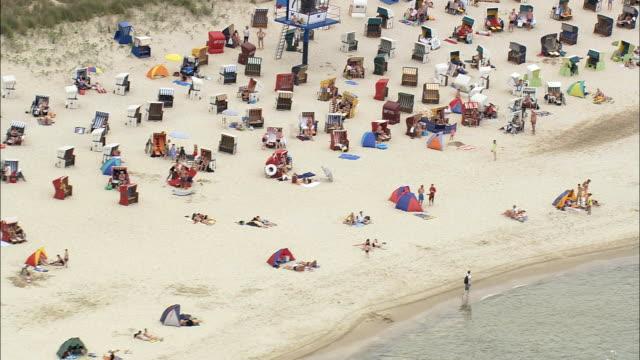 Crowded Beach At Seebad Heringsdorf And Bansin  - Aerial View - Mecklenburg-Vorpommern,  Germany