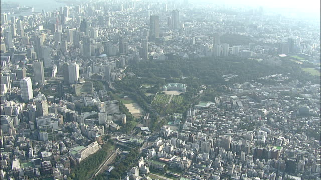 Crowded buildings surround Tokyo's Guest House.