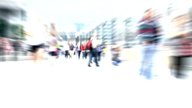 Überfüllten Stadt Straße. HD