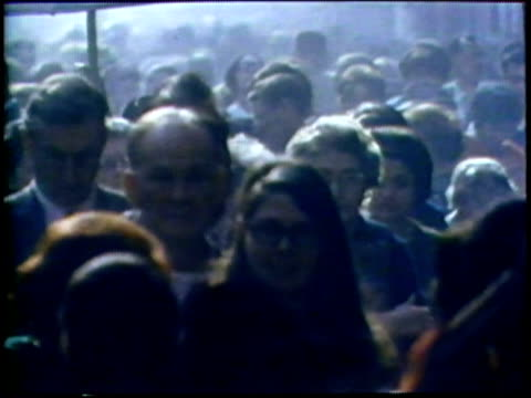 1973 montage crowded city streets/ usa/ audio - moving past stock videos & royalty-free footage