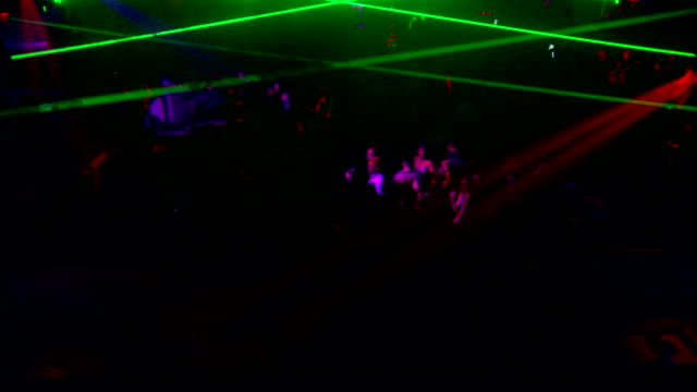 crowded dance club w/ unidentifiable people dancing, partygoers, dancers, w/ strobe lights & lasers flashing all around. party, nightclub, venue,... - strobe light stock videos & royalty-free footage
