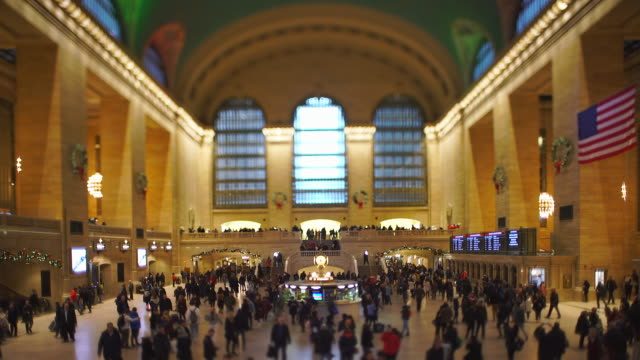 crowded grand central terminal in the last day of the year 2019 at midtown manhattan new york city ny usa on dec. 31 2019. - homecoming stock videos & royalty-free footage
