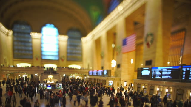 crowded grand central terminal in the last day of the year 2019 at midtown manhattan new york city ny usa on dec. 31 2019. - last day stock videos & royalty-free footage