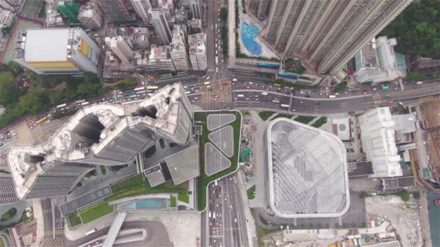 Crowded Hong Kong Top View