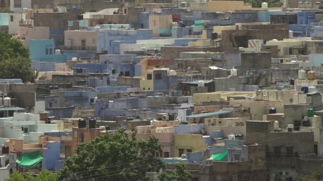 crowded houses and buildings in jodhpur - claustrophobia stock videos & royalty-free footage