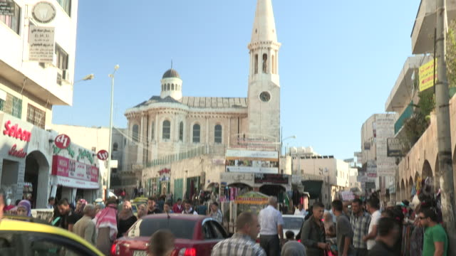 crowded intersection, bethlehem, palestine - palestinian territories stock videos and b-roll footage