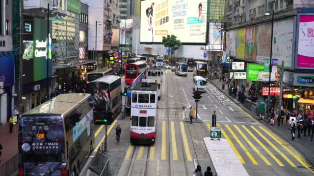 crowded people around Causeway Bay area in Hong Kong