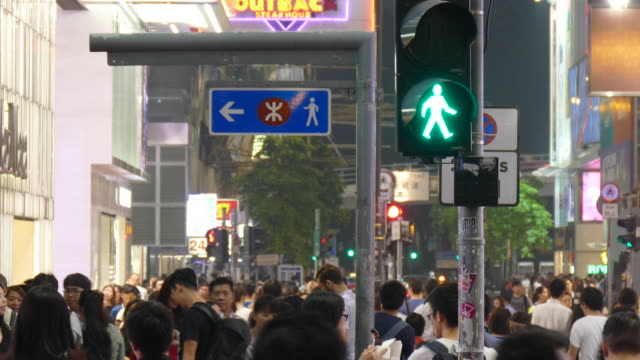 crowded people in Hong Kong City