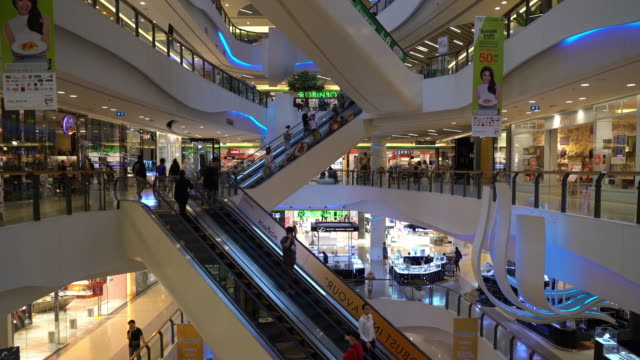 crowded people in luxury in shopping mall