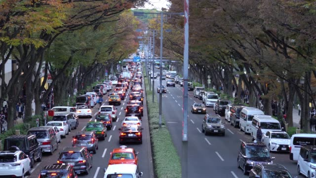 crowded people walking omotesando avenue in shibuya ward japan - land vehicle stock videos & royalty-free footage