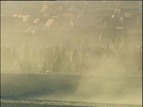 Crowded refugee camp; Afghanistan Refugee Crisis 2001