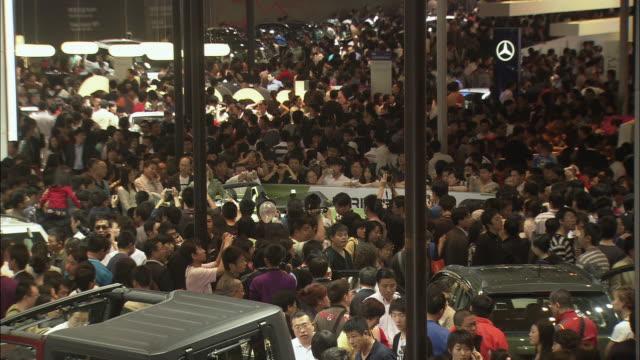 WS HA Crowded showroom at Beijing Auto Show, Beijing, China