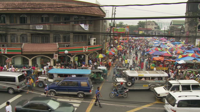 Crowded street in Manila Philippines