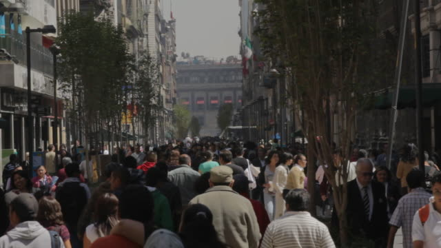 Crowded street in Mexico City