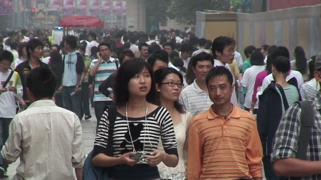ms crowded street, shanghai, china - shanghai stock videos & royalty-free footage