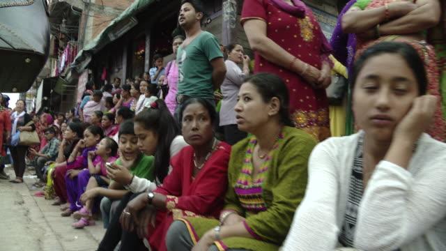 crowded street sidewalk in kathmandu, nepal - nepal stock videos & royalty-free footage