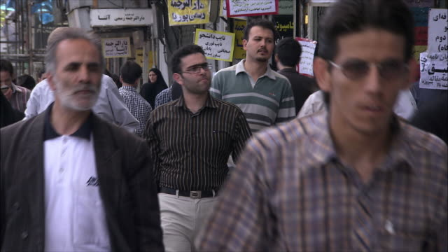 cu crowded street, tehran, iran - tehran stock videos and b-roll footage