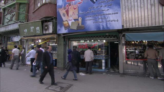ms pan crowded street, tehran, iran - tehran stock videos & royalty-free footage