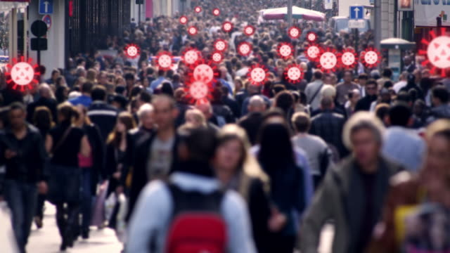 crowded street virus cure - infectious disease stock videos & royalty-free footage