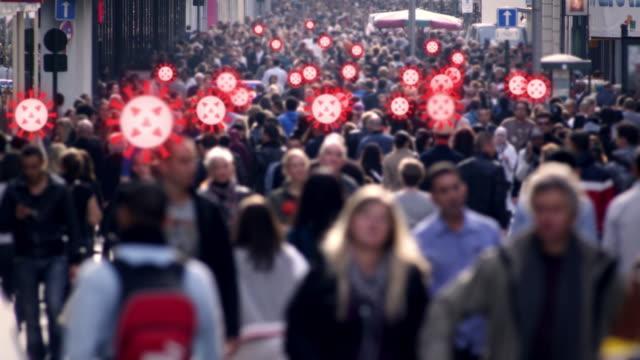 crowded street virus spread - spreading stock videos & royalty-free footage