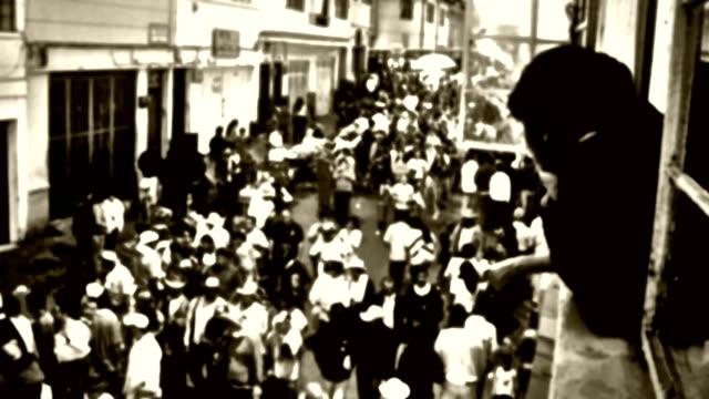 vídeos de stock, filmes e b-roll de hd: ruas lotadas de manizales - manipulação digital