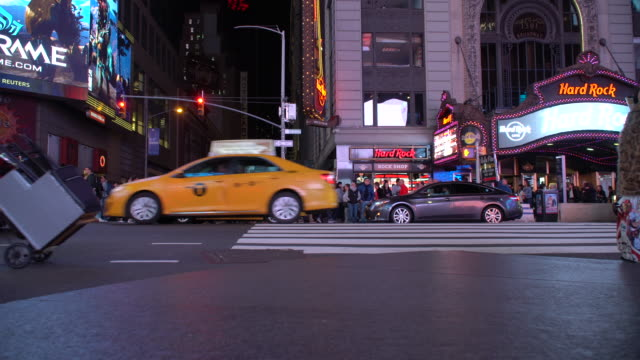 A Crowded Times Square at Night