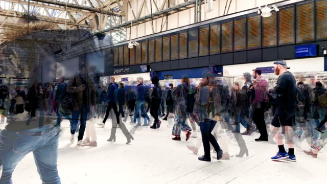 crowded train station - time-lapse - busy stock videos & royalty-free footage