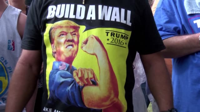 Crowds begin to arrive ahead of Republican Donald Trumps rally in Boca Raton with supporters saying the chaos in a Chicago rally that was canceled...