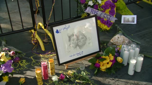 atmosphere crowds gather outside staples center for kobe bryant memorial at staples center on january 27 2020 in los angeles california - kobe bryant stock videos & royalty-free footage