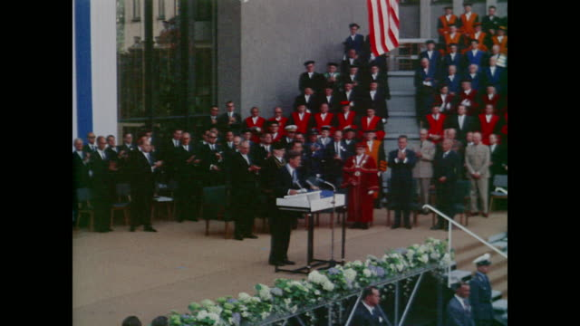 crowds gathered both inside and out - john f. kennedy us president stock videos & royalty-free footage