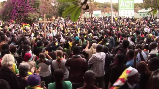 crowds in harare zimbabwe protesting government corruption - harare stock videos and b-roll footage