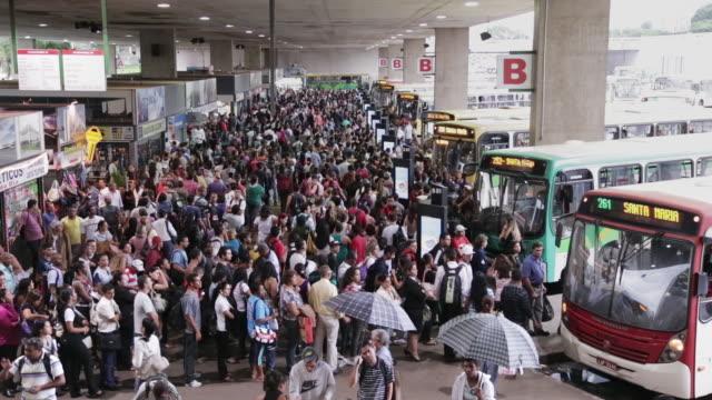 CS Crowds in main bus station / Rodoviaria / Brasilia, Brazil